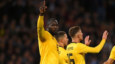Romelu Lukaku scored twice as Belgium beat Iceland