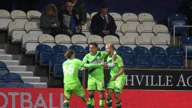 Norwich City's Teemu Pukki (right) celebrates his goal with team-mates