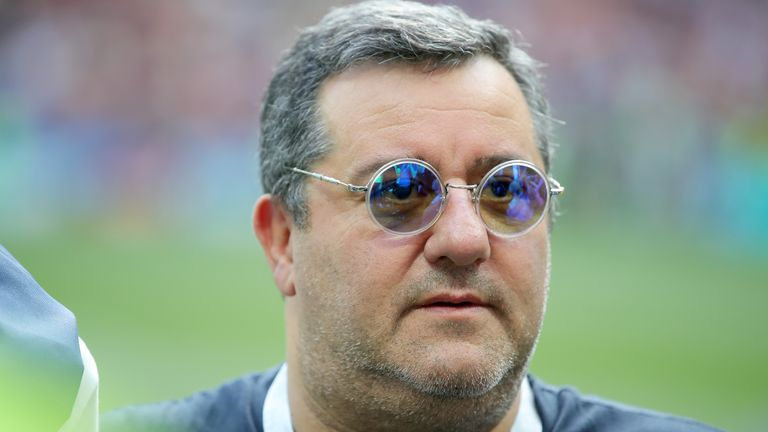 CAS suspended Mino Raiola's worldwide ban on Wednesday