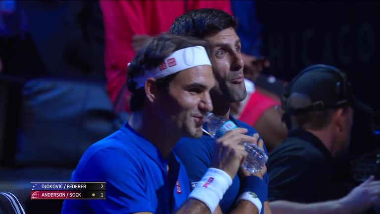 Djokovic said his heart skipped a beat after catching Federer
