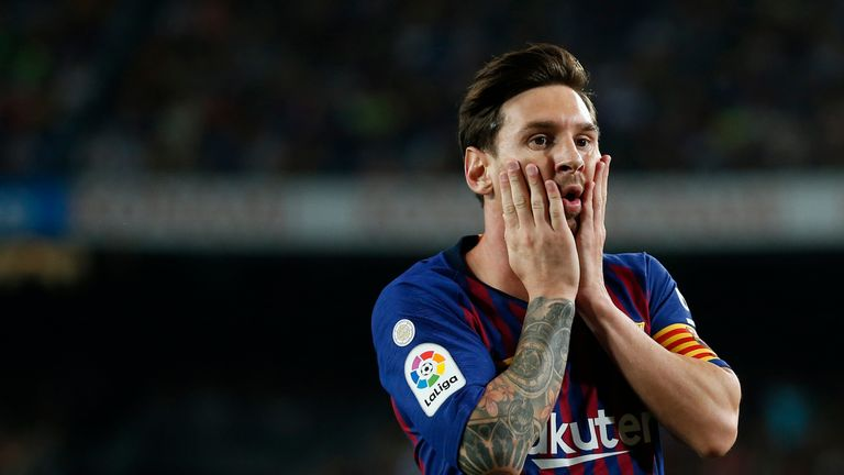 Lionel Messi has not been able to prevent Barcelona from slipping up
