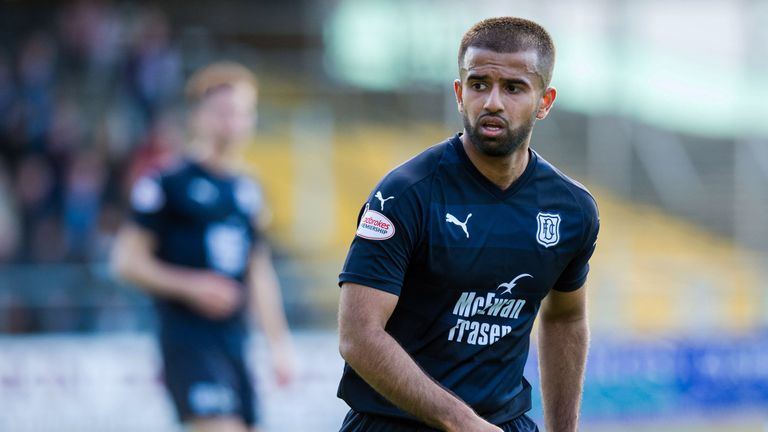 Adil Nabi has made six first-team appearances for Dundee since joining in the summer