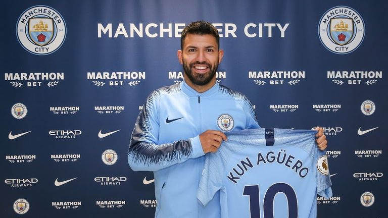 Sergio Aguero has signed a contract extension (pic courtesy of Man City)
