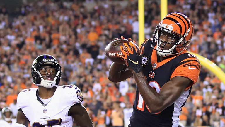 The Bengals will have to cope without star wide receiver A.J. Green against the Saints