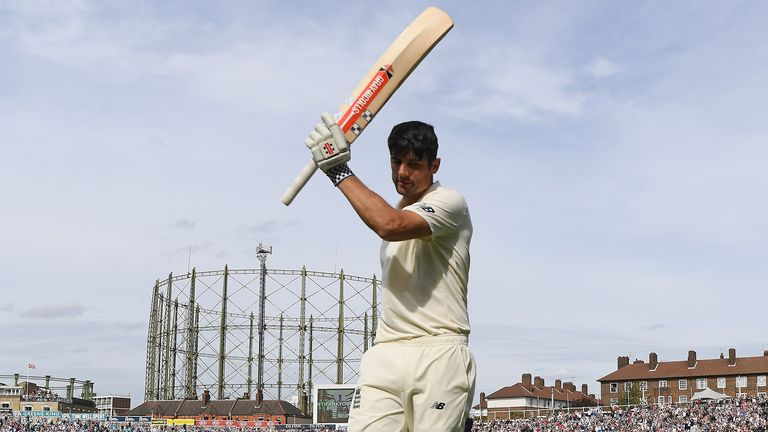 Alastair Cook scored 147 in his final Test for England, at The Oval