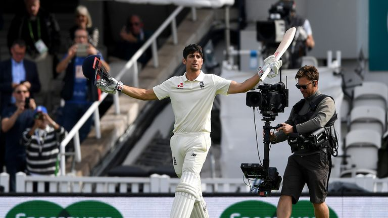 Cook signed off his England career with a century in his final Test against India at The Oval