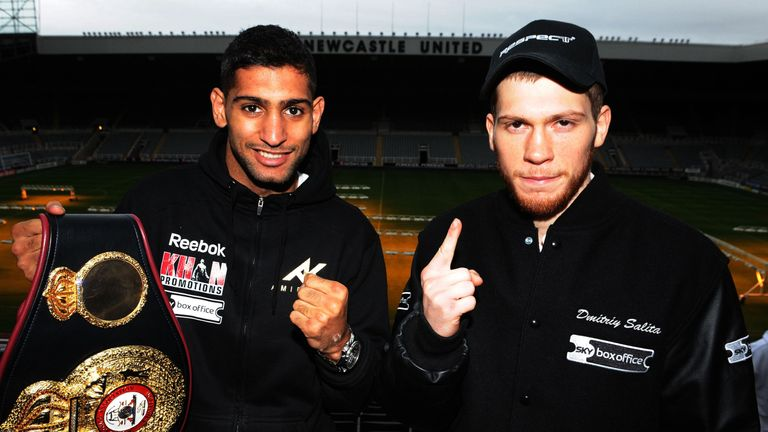 Khan was making the first defence of his WBA title against Salita