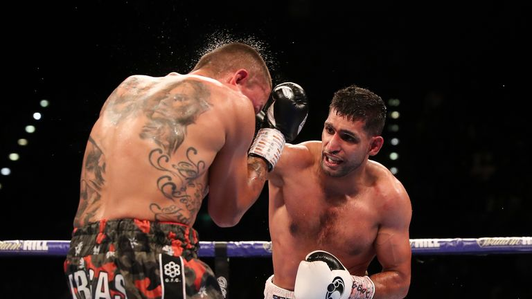 Amir Khan climbed off the canvas to defeat Samuel Vargas on points in September