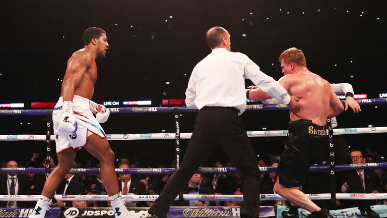 Joshua finished Povetkin off in round seven
