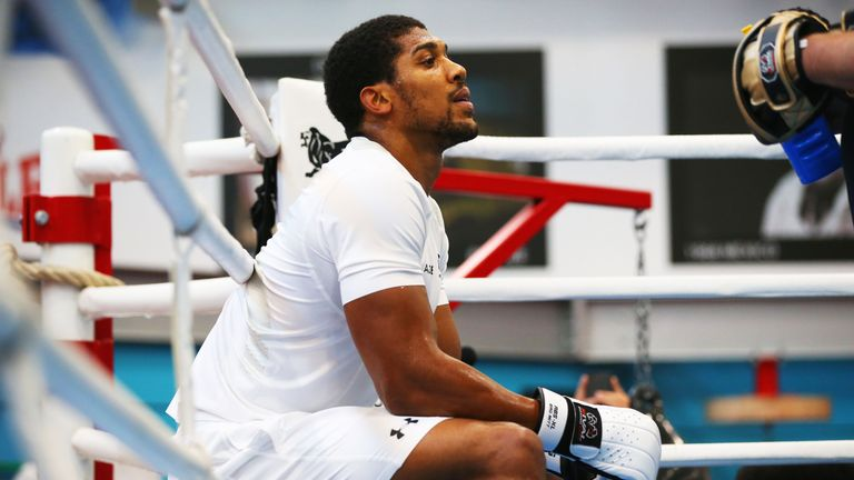 Anthony Joshua has been preparing for Saturday's world title fight with Alexander Povetkin, live on Sky Sports Box Office