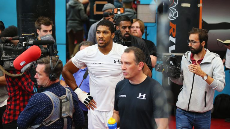 Joshua's media day at the English Institute of Sport in Sheffield