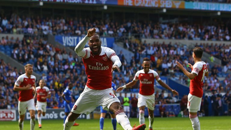 Alexandre Lacazette fired Arsenal to victory at Cardiff