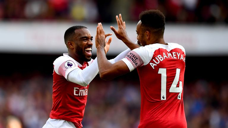 Lacazette and Aubameyang have linked up well together for Arsenal