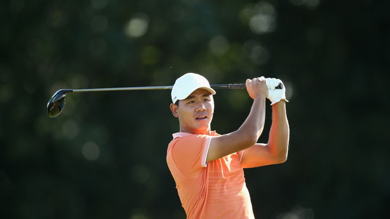 Ashun Wu leads the way on seven under par