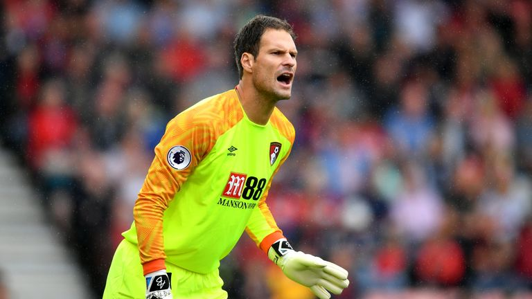 Asmir Begovic has been dropped from Bournemouth's three most recent Premier League games