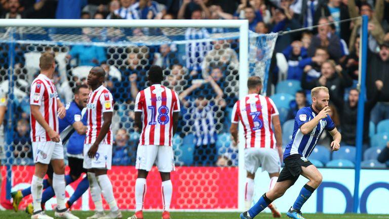 Barry Bannan celebrates scoring for Sheffield Wednesday