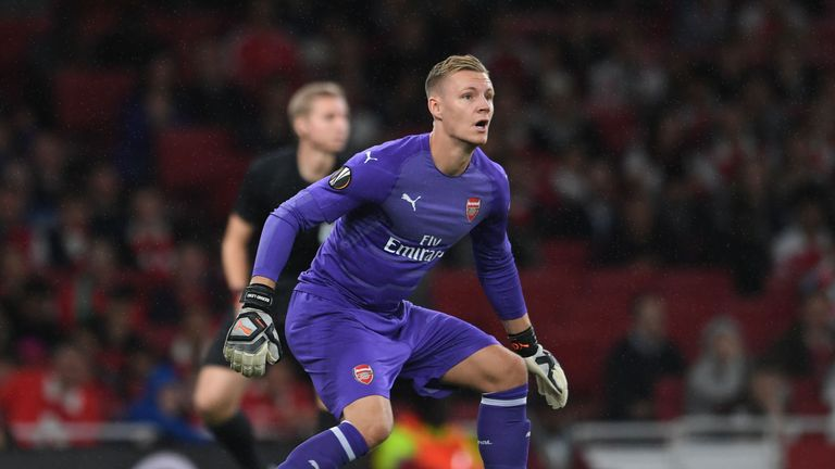 Arsenal goalkeeper Leno happy with winning debut