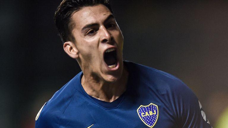 Boca Juniors striker Cristian Pavon