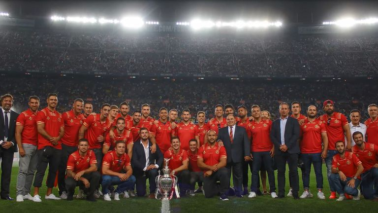 Catalans were invited to the Nou Camp following last season's Challenge Cup win