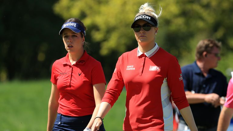 Georgia Hall and Charley Hull both feature at the Evian Championship