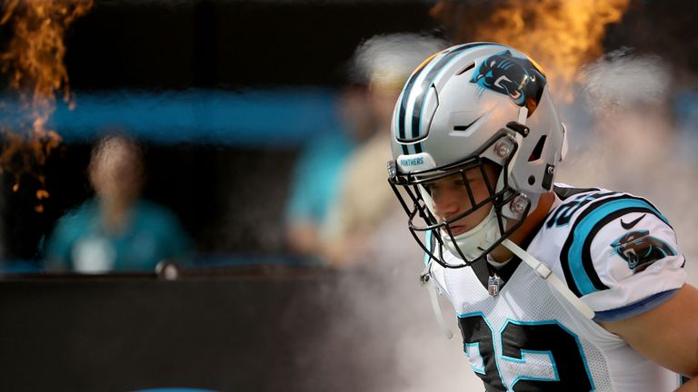 Panthers running back Christian McCaffrey is one of the stars on show on Thursday night