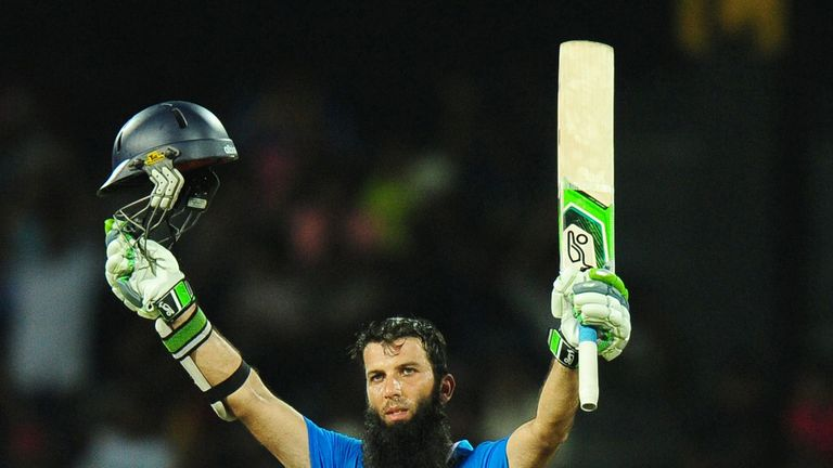 Moeen Ali scored his maiden ODI century on the Sri Lanka tour in 2014