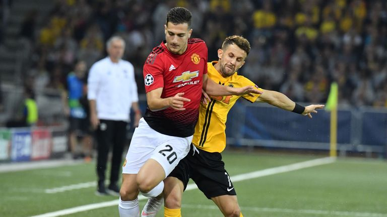 Dalot was making his debut after knee surgery in the summer