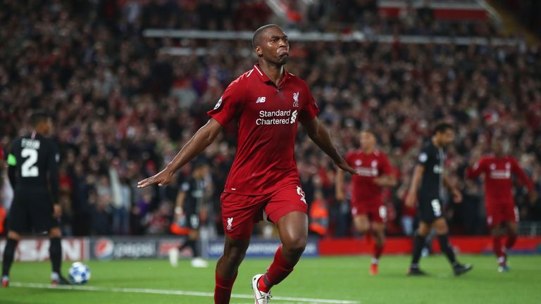 Daniel Sturridge made a goalscoring return to the Liverpool starting line-up