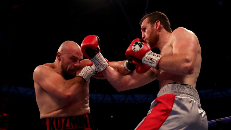Price held his own against Sergey Kuzmin until he aggravated an arm injury