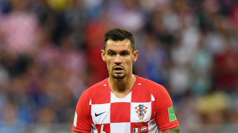 Lovren lined up for Croatia in the World Cup final last summer