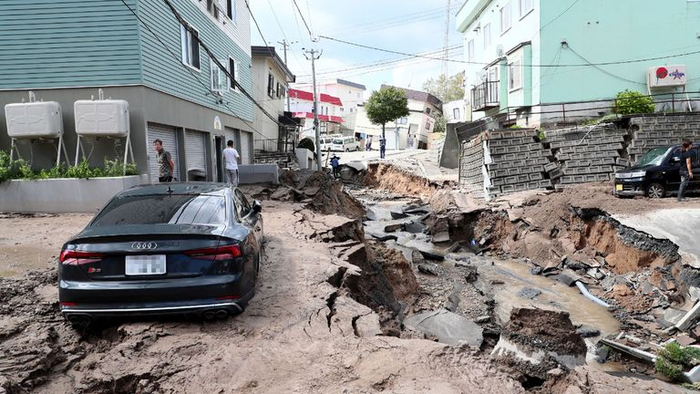 A powerful earthquake rocked the northern Japanese island of Hokkaido on Thursday