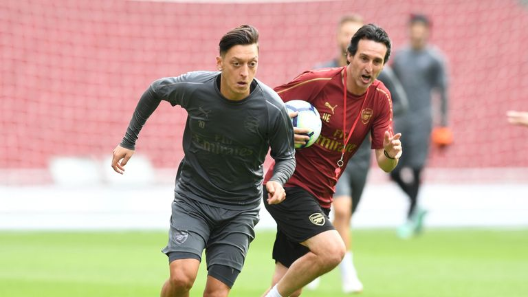 Emery said he worked well with Ozil during the international break