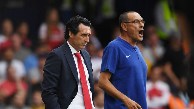 Arsenal and Chelsea are alongside Man Utd in the race for fourth