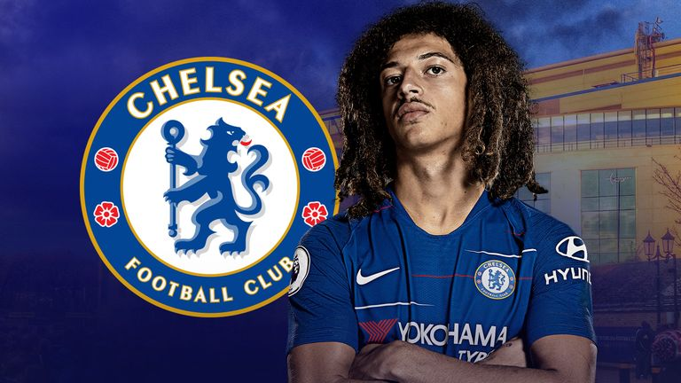 Ethan Ampadu joined Chelsea from Exeter in 2017