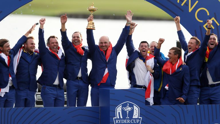 Europe claimed a convincing victory at Le Golf National