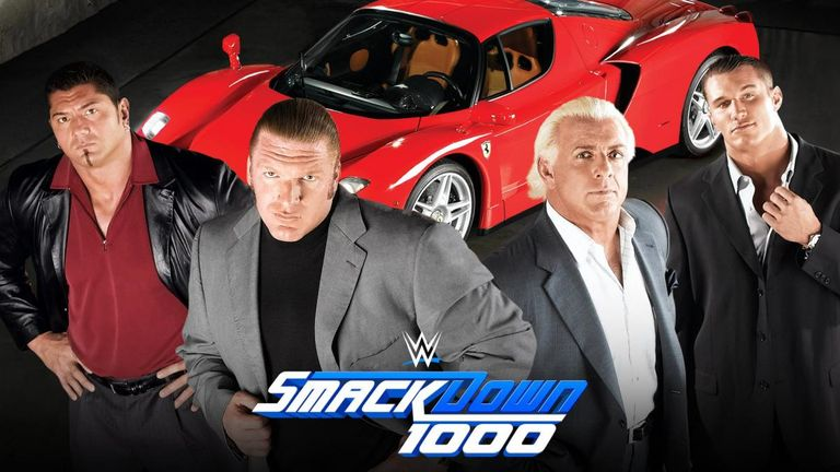 Triple H, Batista, Randy Orton and Ric Flair will reunite Evolution at SmackDown 1000