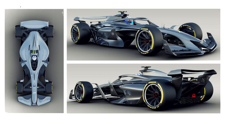 F1 reveals 2021 concept cars with aim to improve racing ...