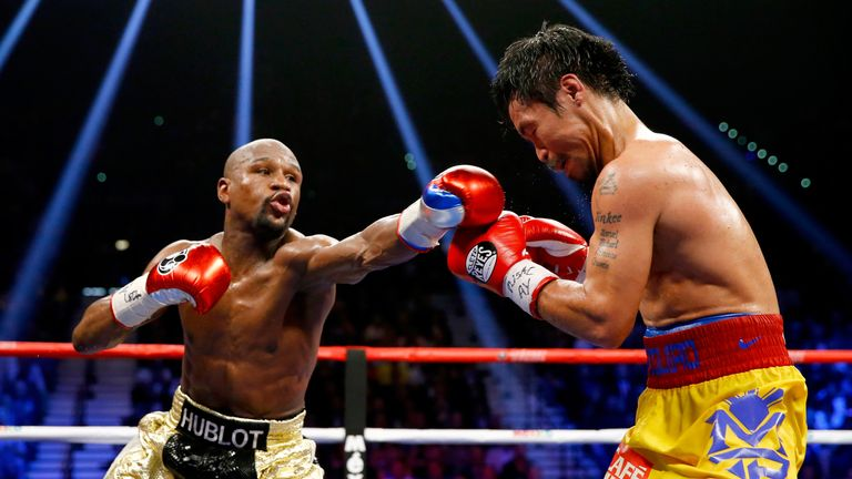 One of Mayweather's biggest victories came against Manny Pacquiao in May 2015