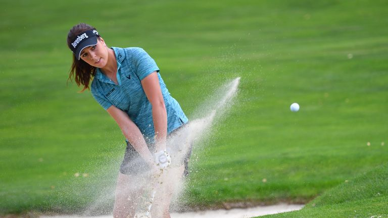 Hall was three under after eight but parred her final 10 holes