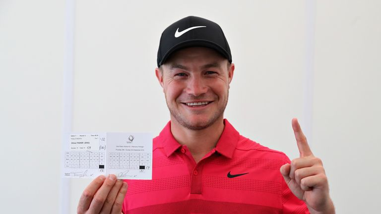 Fisher's 59 came after a level-par 71 on the opening day