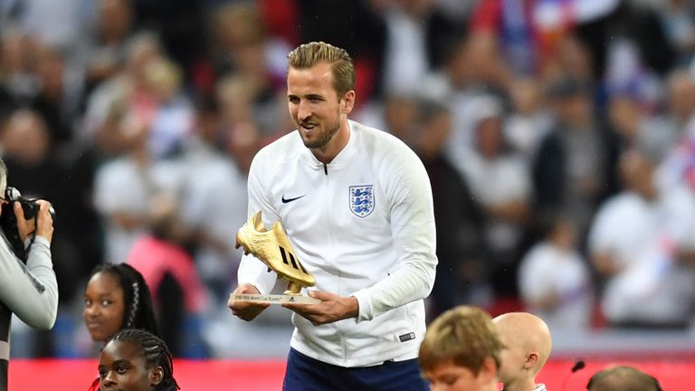 After scoring 41 goals for Tottenham last season, Kane also picked up the World Cup Golden Boot after netting six times