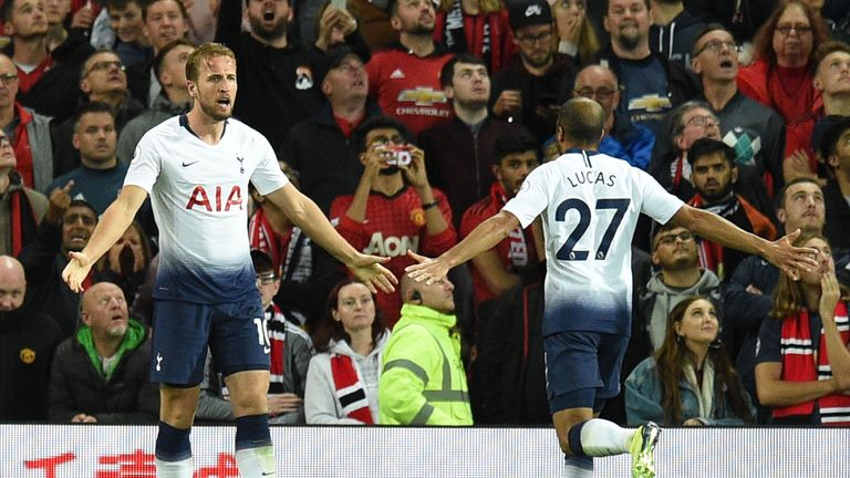 Kane scored for Tottenham at Manchester United