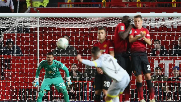 Harry Wilson scored Derby's equaliser with a sublime free-kick at Man Utd