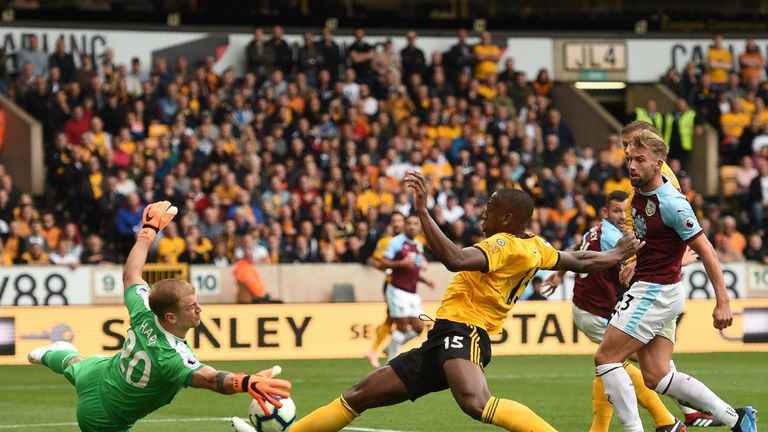 Joe Hart pulled off some great saves in the first half against Wolves