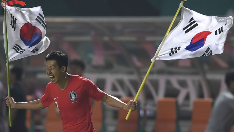 Son led South Korea to gold at the 2018 Asian Games