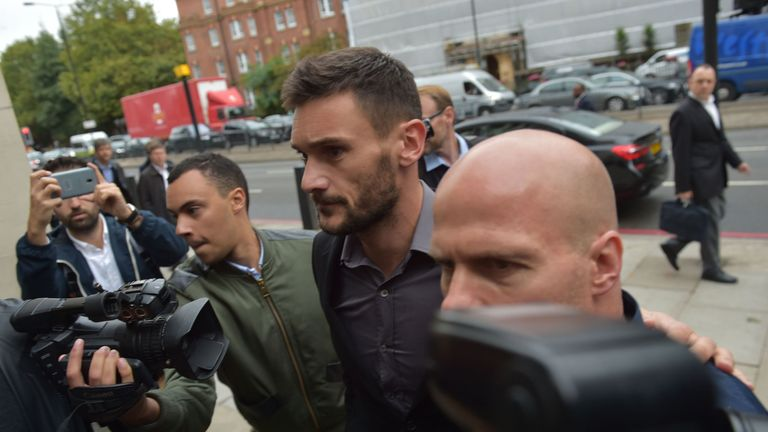 Lloris was banned from driving for 20 months after pleading guilty to drink-driving in August 2018