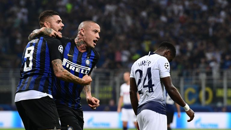 Tottenham were undone by Inter's late double