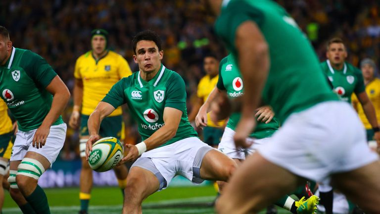 Ireland's Joey Carbery comes in for Johnny Sexton who is rested for the Test against Italy