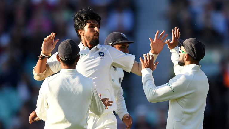 Ishant Sharma took three wickets as India dominated the final session