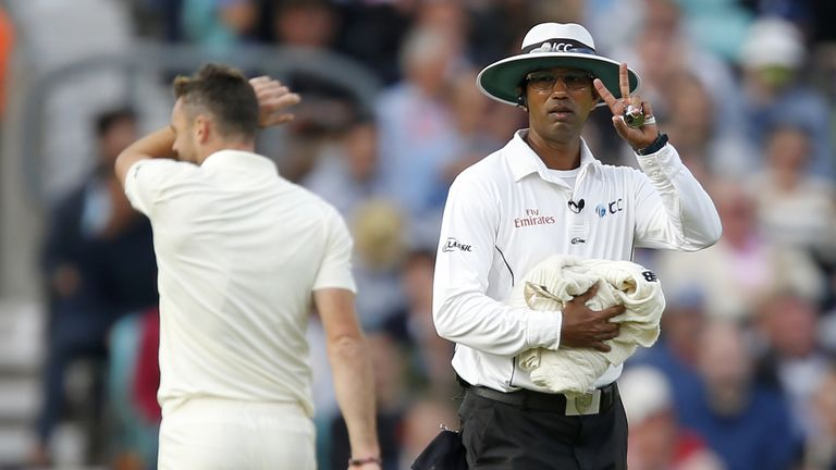 James Anderson has been fined for dissent towards umpire Kumar Dharmasena